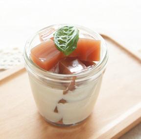 ザクロ寒天のココナッツミルクがけ(アレンジレシピ)