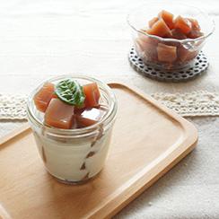 ザクロ寒天/ザクロ寒天のココナッツミルクがけ(アレンジレシピ)
